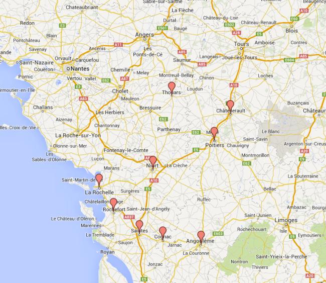 Cliquez sur la carte pour découvrir les lieux de mobilisations en région.