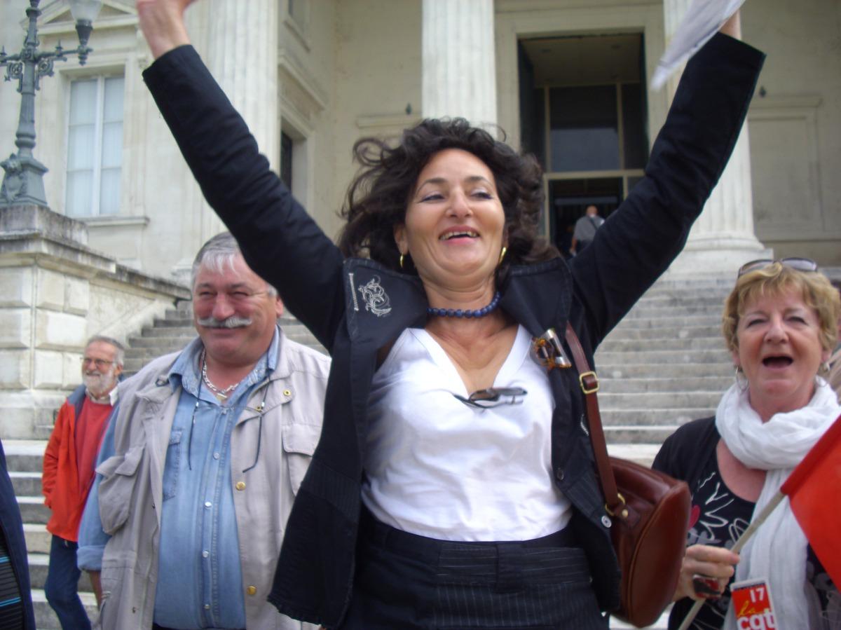 [Charente-Maritime] Tribunal d'Instance de Saintes : le soulagement d'une déléguée syndicale CGT