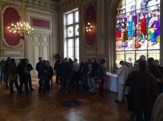 Un vin d'honneur offert par la ville a été servi à l'issue de la présentation de l'exposition CGT.