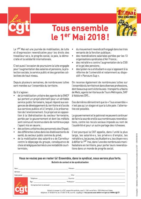 Tract 1er mai 2018
